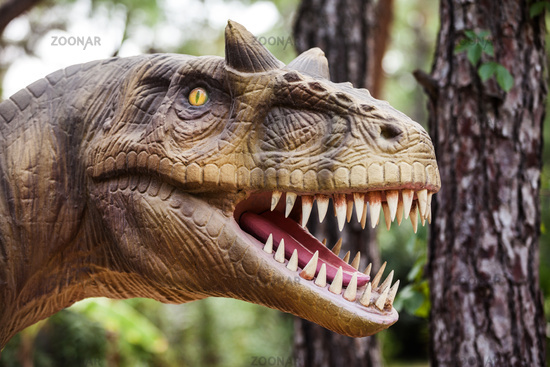 Dinosaur showing his toothy mouth