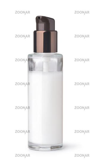 Blank glass cosmetic pump bottle
