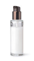 Blank glass cosmetic pump bottle
