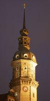 Castle by night, Dresden, Saxony, Germany, Europe