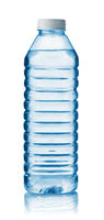 Front view of plastic water bottle