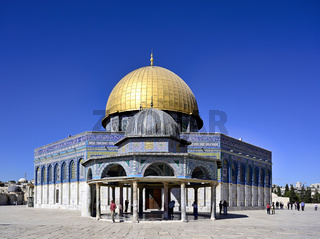 Jerusalem Israel. Dome of the rock mosque at Temple Mount