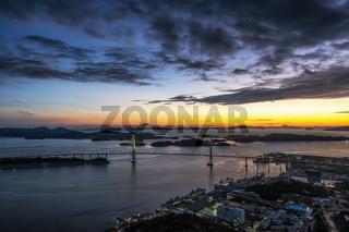 Mokpo Bridge after Sunset