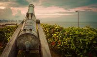 Fort Cornwallis in George Town, Penang, Malaysia. Panorama