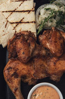 Appetizing grilled juicy chicken