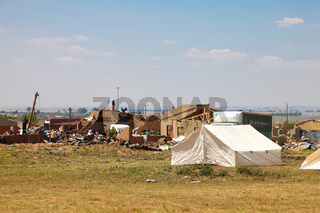 Tornado Damaged Homes in a small Township