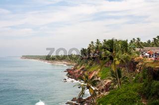 Coastline in Varkala, India