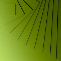 Green modern background with three dimensional steps