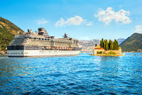 Cruise liner in Perast