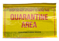 Quarantine Area Warning Sign