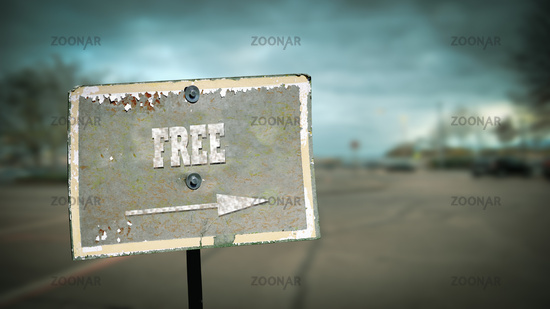 Street Sign to Free