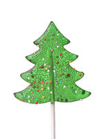Front view of christmas tree lollipop