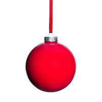 red Christmas tree ball