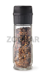 Glass manual mixed spice grinder