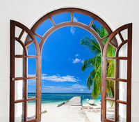 open door view of the gazebo Caribbean