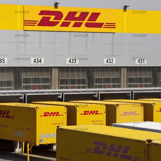 Distribution center of Deutsche Post DHL, Rheinsberg, North Rhine-Westphalia, Germany, Europe