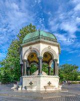 German fountain in Istanbul, Turkey