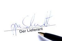 Signature of Supplier