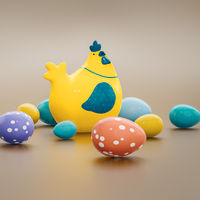chicken with eggs easter decoration