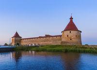 Fortress Oreshek on a small island on the Neva River - Leningrad Region Russia