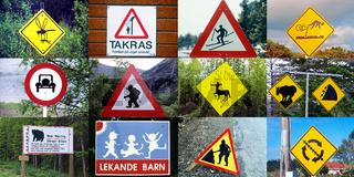 Schilderwald: Verkehrszeichen aus der ganzen Welt