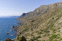 The shore of the Black Sea. Crimea.