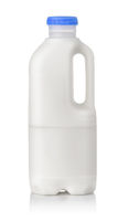 One liter plastic milk bottle