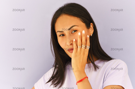 Young ethnic woman in casual wear