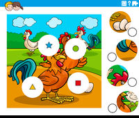 match pieces task with chicken characters