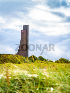 Beach hike in Laboe, Schleswig-Holstein, Germany, on a cloudy autumn day