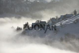 Winter Snowy Mountain Landscape