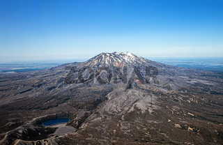 Luftaufnahme des Berges Ruapehu, Nordinsel, Neuseeland, Ozeanien.