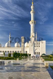 Abu Dhabi. United Arab Emirates. Sheikh Zayed Grand Mosque