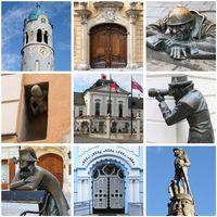 Collage of landmarks of Bratislava