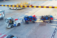 Airport Truck baggage luggage flight