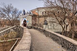 Old historical abandoned sanatorium Kuyalnik in Odessa, Ukraine