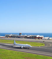 Airplane airport terminal Madeira Portugal