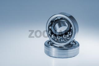Spherical roller bearings on white gradient