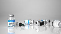 Covid-19 Vaccine Bottle Syringe