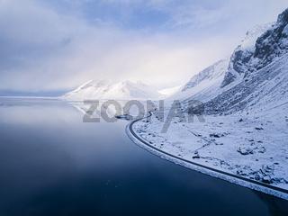 Iceland coastline Aerial