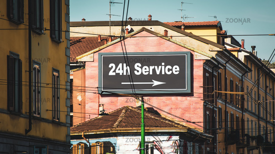 Street Sign to 24h Service