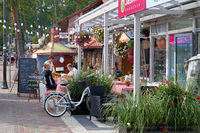Gastronomy for holidaymakers in the fishing village of Pobierowo on the Polish Baltic coast