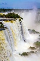 Huge complex of waterfalls Iguazu