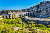 The picturesque ancient viaduct