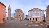 Buje. Town of Buje old cobbled square view