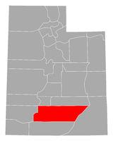 Karte von Garfield in Utah - Map of Garfield in Utah