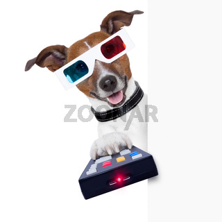 3d glasses movie dog