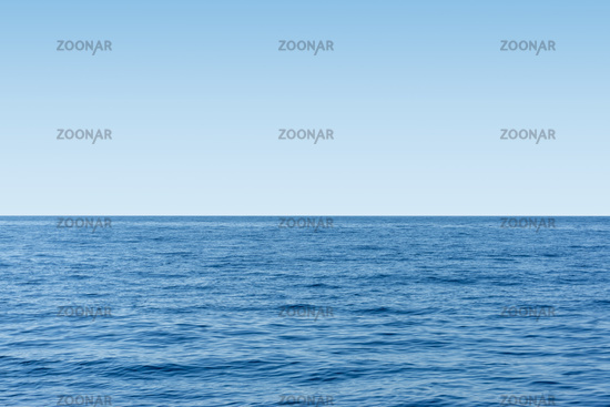 Blue sea view and clear sky horizon. Travel and environment concept.