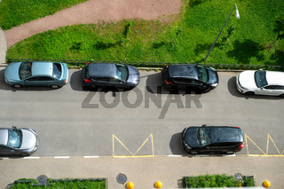 Public car parking, residential area