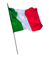 Isolated Italian Flagpole